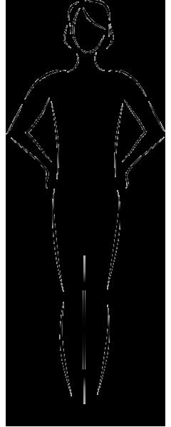 V oblik tela