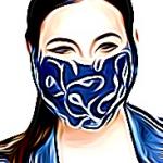 Šivena pamučna maska
