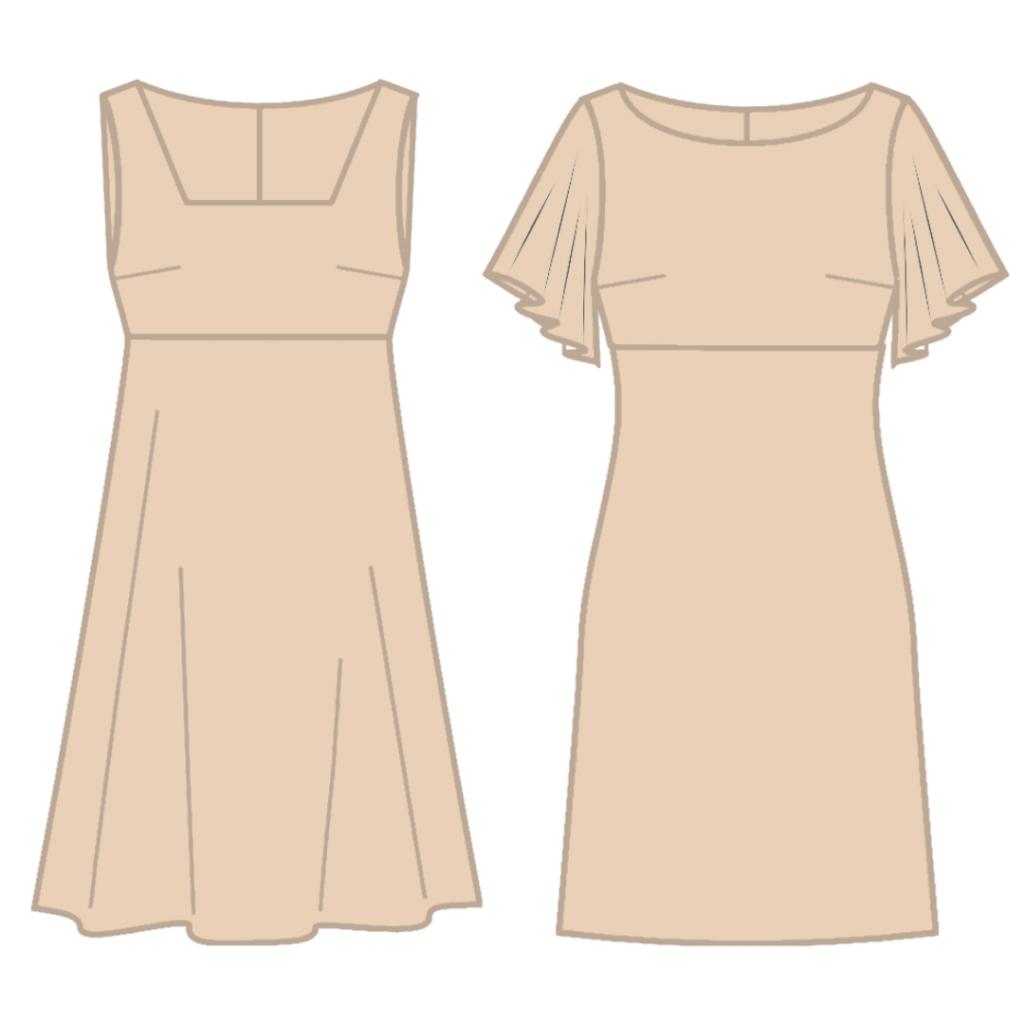 Haljina koja odgovara A obliku tela.