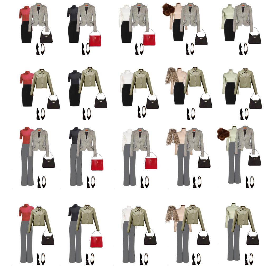 Modna Kapsula 10 odevnih predmeta, preko 20 kombinacija